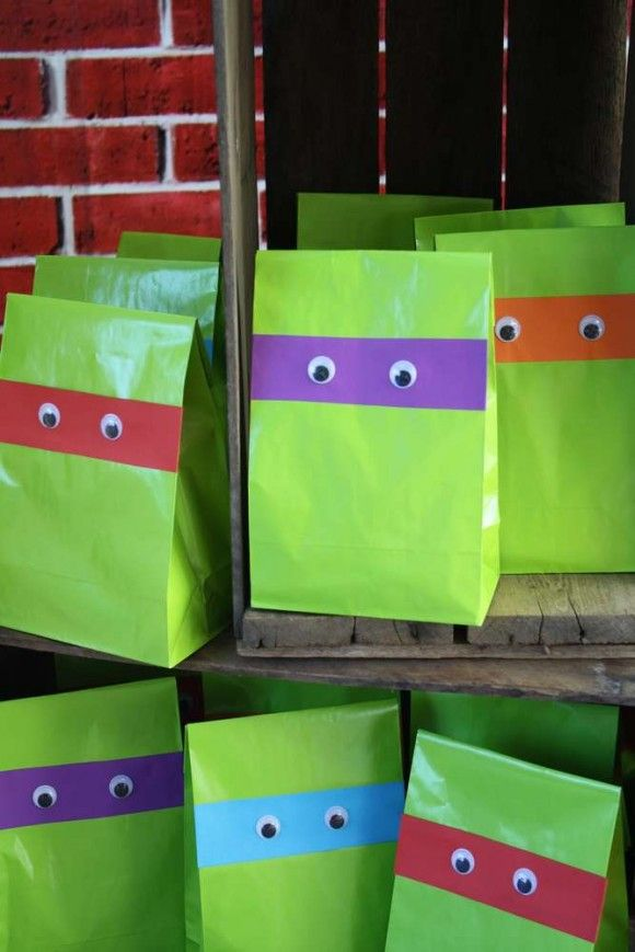 Age Mutant Ninja Turtle Party Ideas Favors Catchmyparty