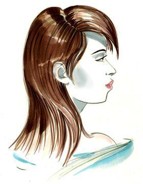 Illustration Fliehendes Kinn Haircuts Pinterest Hair Cuts