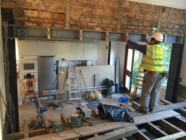 Rsj Steel Beam Installation Removal Of Internal Load