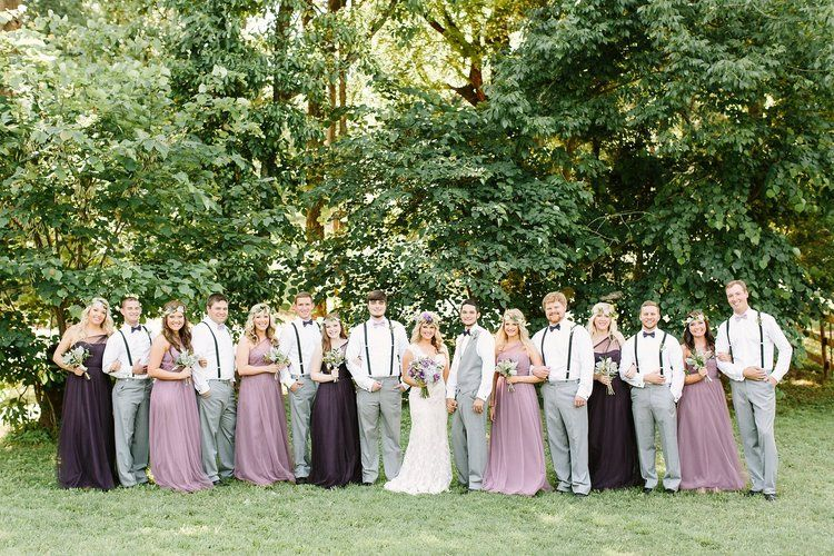 This Year S Barn Brides Have Been All About Fun Unique Color Palettes It Has Been Such A Fun Year Boho Wedding Groomsmen Purple Bohemian Wedding Chic Wedding