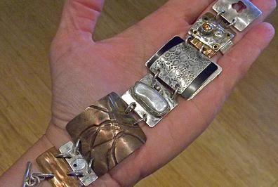 Mixed Metal Story Bracelet