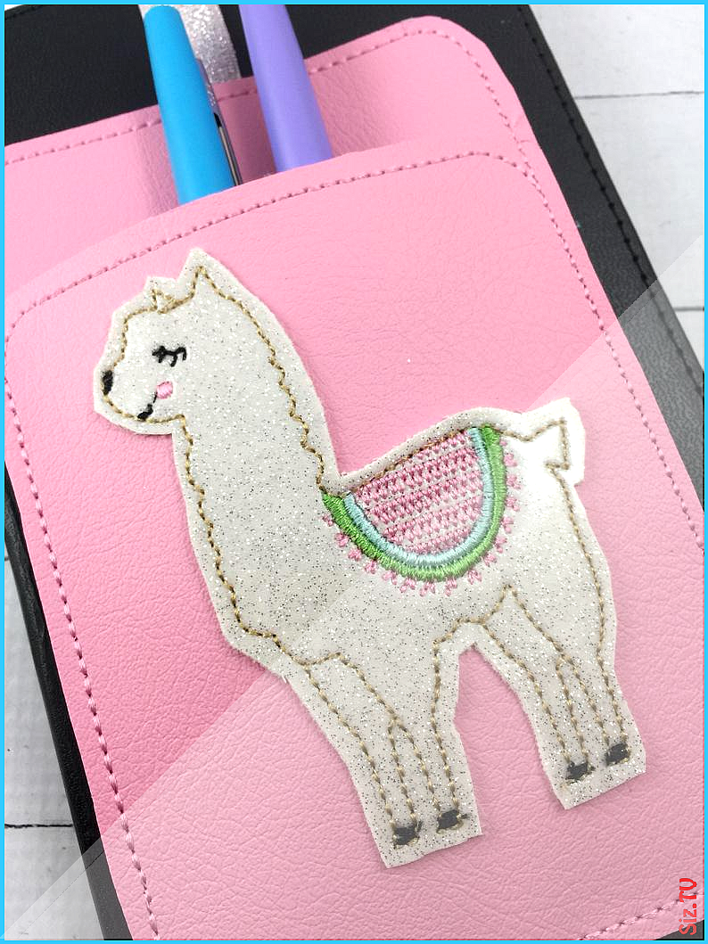 Llama Pen Holder planner band -planner accessories  pen pocket holder -best gifts for her -fits happ...