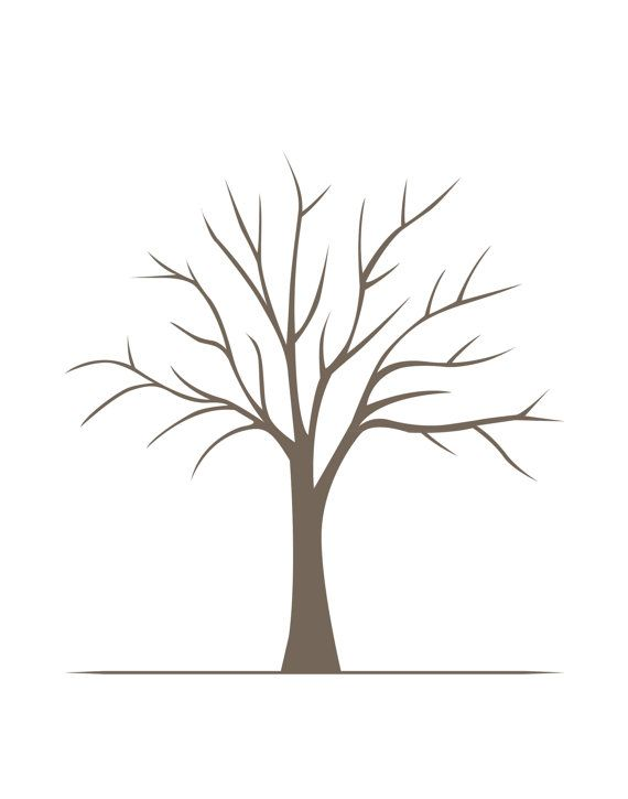 diy fingerprint tree poster instant download medium. Black Bedroom Furniture Sets. Home Design Ideas