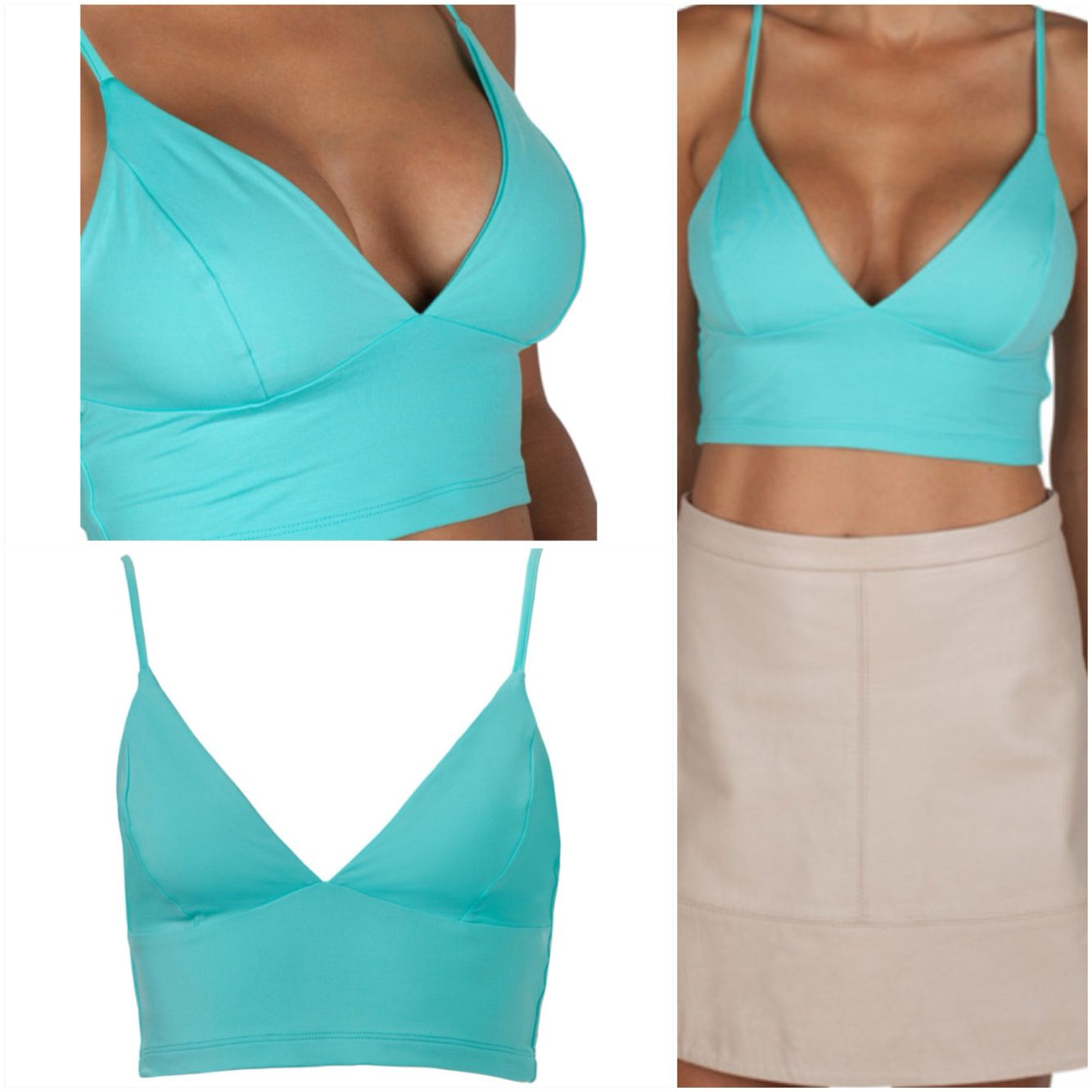 Kookai Topaz Everyday Bralette made from kookai signature polyamide. The  fabric is known for its abc5eb407