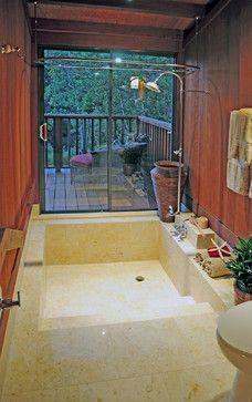 Sunken Tub Asian Bathroom San Francisco Kwan Design