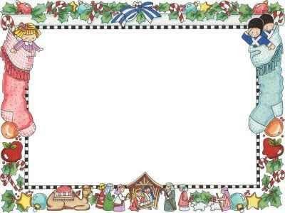 Una Tarjeta Con Marco Y Un Fondo Blanco Para Escribir Navidad