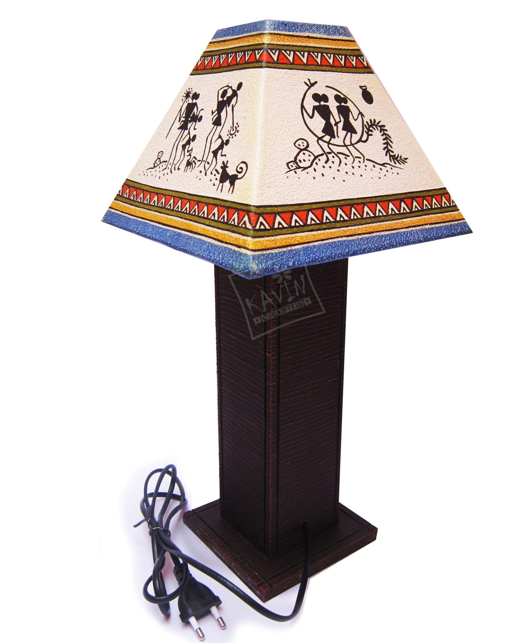 Handmade lampshades decorated with indian tribal traditional art handmade lampshades decorated with indian tribal traditional art works created by kavin crafts handmade lampshadespondicherrylamp shadestable geotapseo Gallery