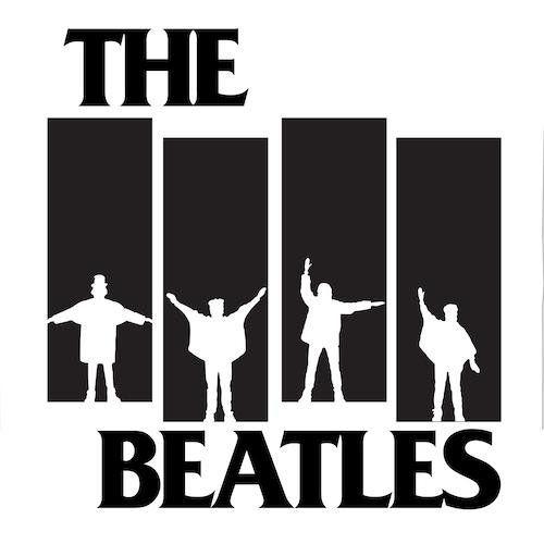 Black Flag Logo The Beatles Help Mash Up Vinyl Record Art Print Alternative Version