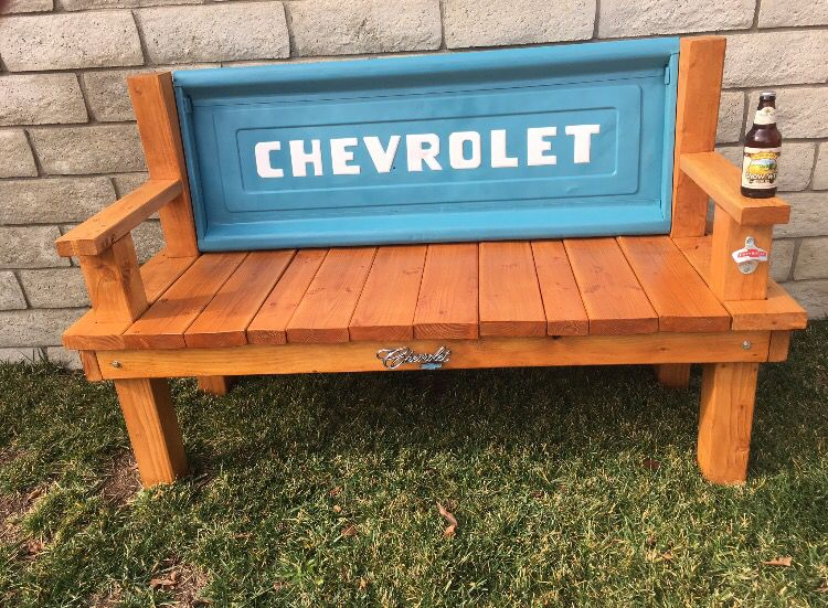 Chevy Tailgate Bench Diy Project My First Tailgate Bench 1 Rustic Tailgate Bench Diy Wood Projects For Men Wood Diy
