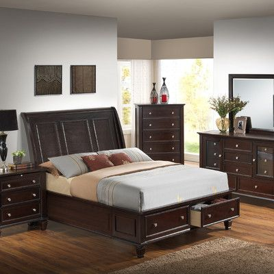 00e0e78e871 Darby Home Co Albertine Storage Platform Bed Color  Cappuccino