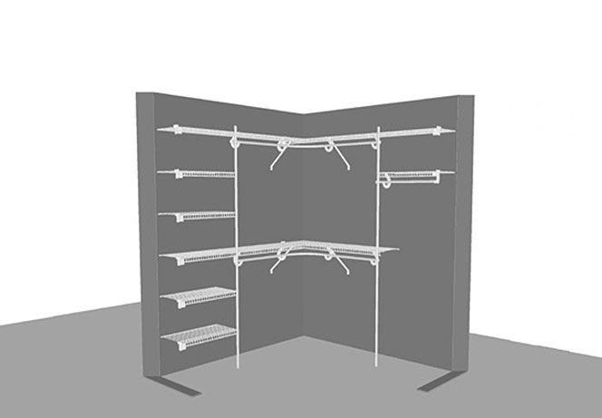 Struttura interna cabina armadio angolare | tommy | Pinterest ...