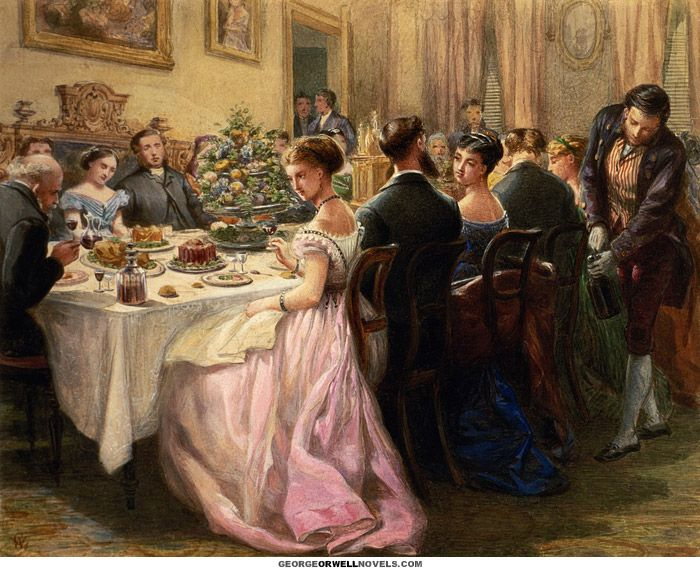 Exceptional Victorian Dinner Party Part - 7: Victorian Dinner Party As Painted By Sir Henry Cole (1808-1882)