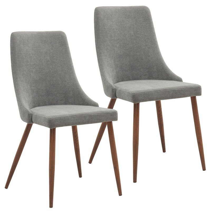George Oliver Eringisl Upholstered Side Chair Reviews Wayfair In 2021 Fabric Dining Chairs Upholstered Dining Chairs Dining Chairs