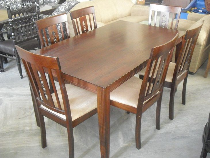 6 Seater Wooden Top Dining Table Used Furniture For Sale Used Furniture For Sale Dining Table Furniture