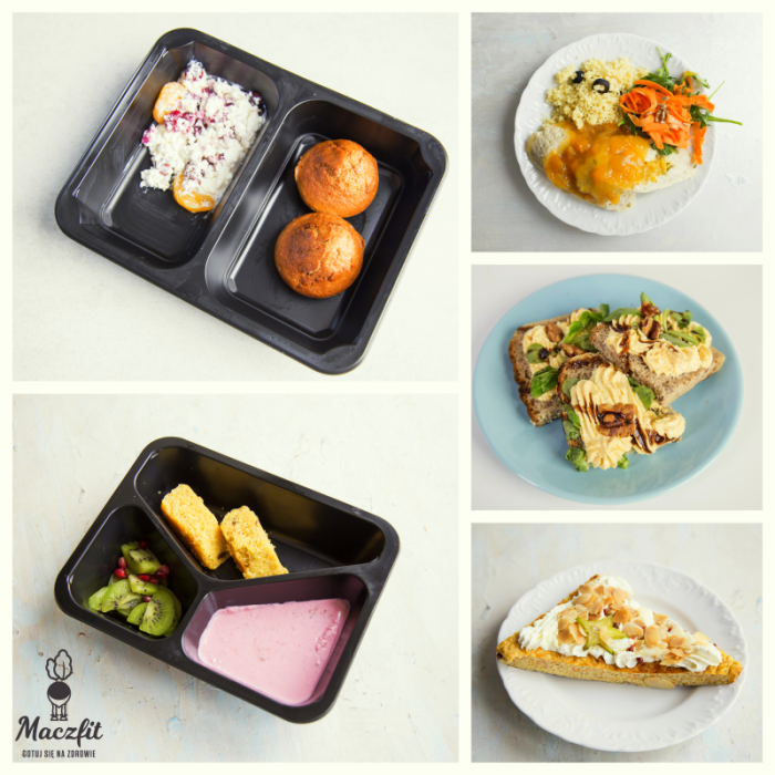 Lunchbox Sniadanie Obiad Pysznosci Catering Maczfit Food Meal