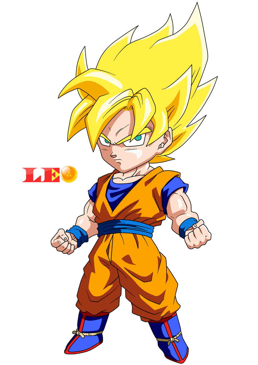 Chibi Goku Saiyan By Link Leob On Deviantart Chibi Goku Dragon Ball Super Manga Chibi Dragon
