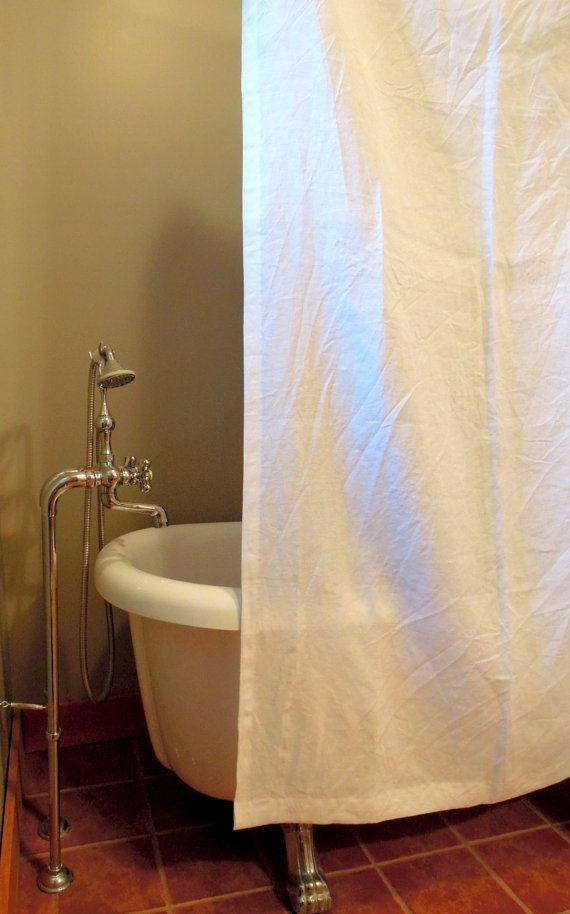 Linen Shower Curtain Washed Linen Shower Curtain Hemp Shower
