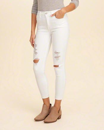 5650062bab5c Hollister High-Rise Crop Super Skinny Jeans | Closet Essentials in ...