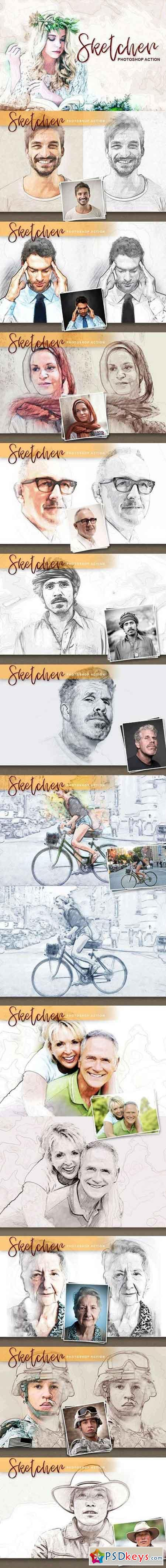 Sketcher Photoshop Action 1342836   PSDkeys   Photoshop actions