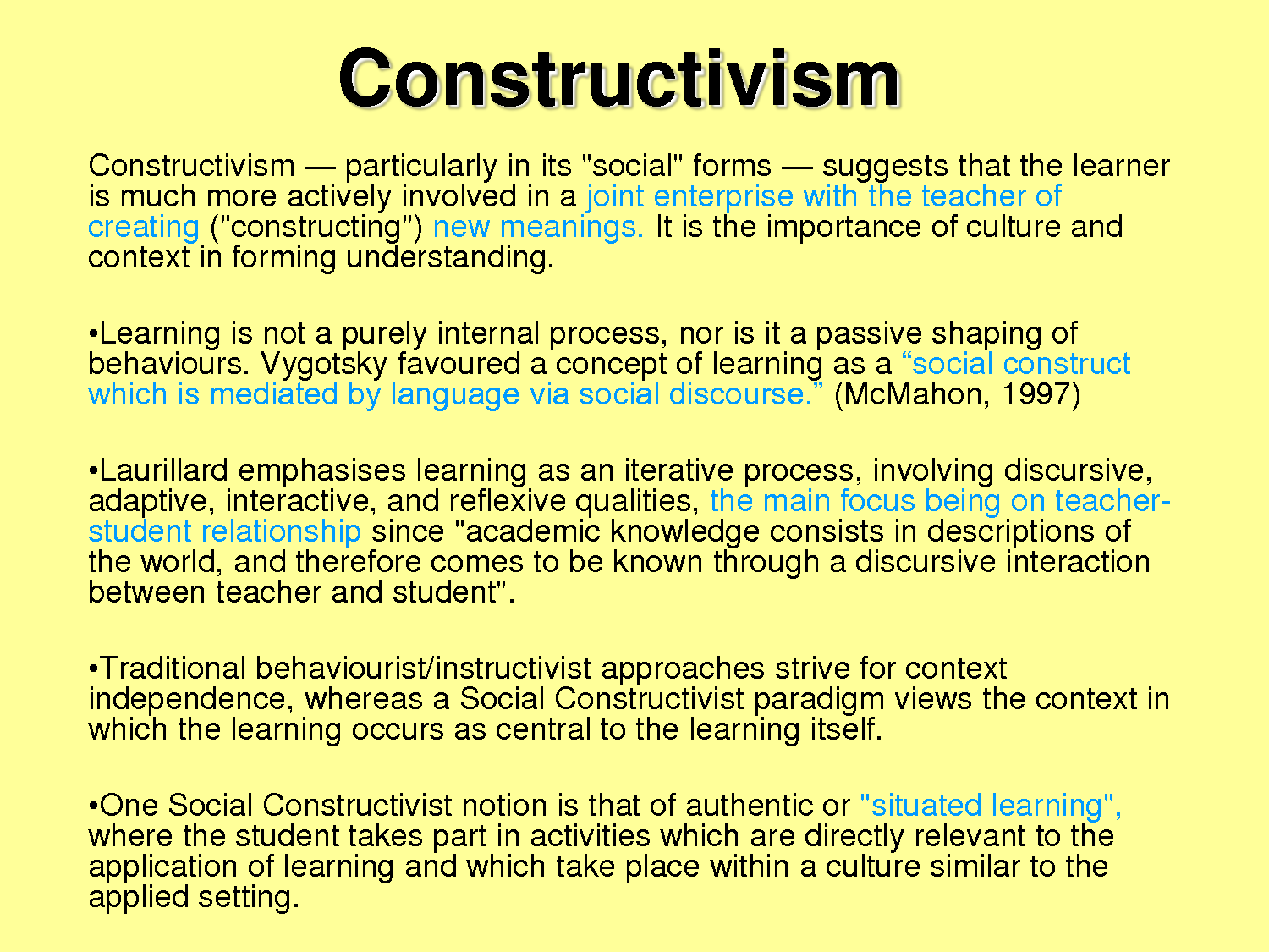 essay on learning theories in education Abc of learning words used to make theories about how we learn  discussed by mill and taylor in the future of the labouring classes essay to the idea of autonomy in learning theory [heteronomy usually means other-directed,  flexible learning flexible education.