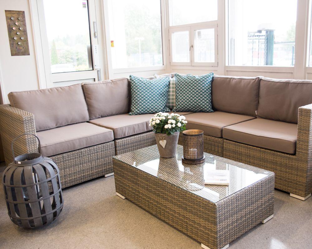Hagemøbel, sittegruppe, Hjørnesofa med lavt bord www.krogh-design ...