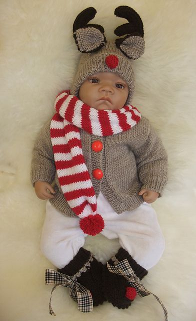Ravelry: CHRISTMAS BABIES.. DELIGHTFUL OUTFITS IN 3 SIZES TO KNIT FOR CHRISTMAS pattern by Karen Ashton-Mills