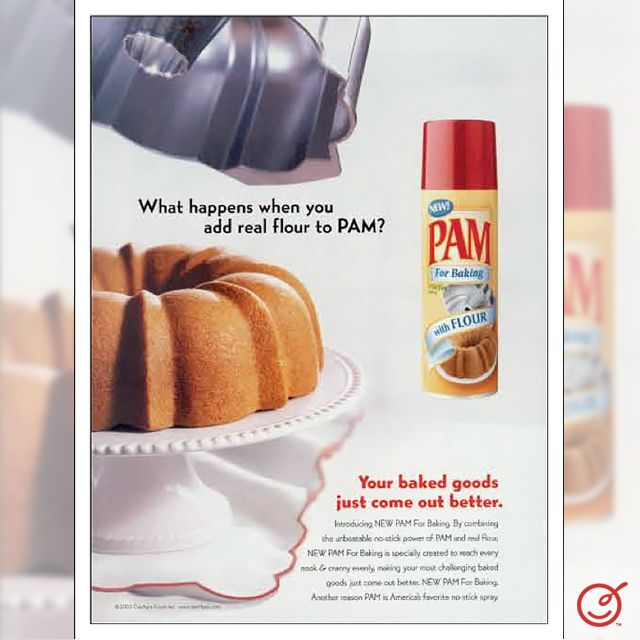 Pam Cooking Spray Ad From 2003 Pam Cooking Spray Conagra Foods Cooking Sprays