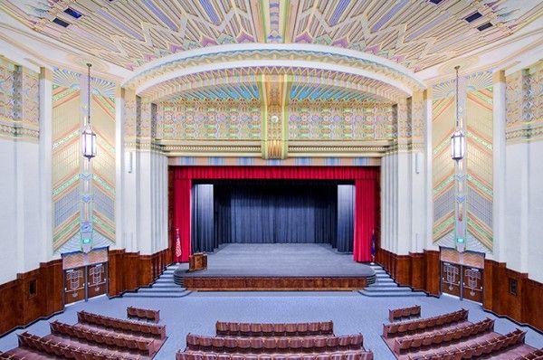 Interior of auditorium ogden high school utah art deco deco art deco art deco buildings for Interior design schools in mississippi
