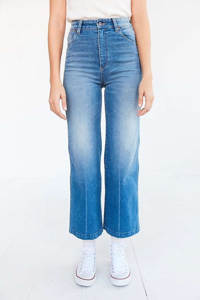 Wrangler Marfa High-Rise Cropped Flare Jean   Urban outfitters ...