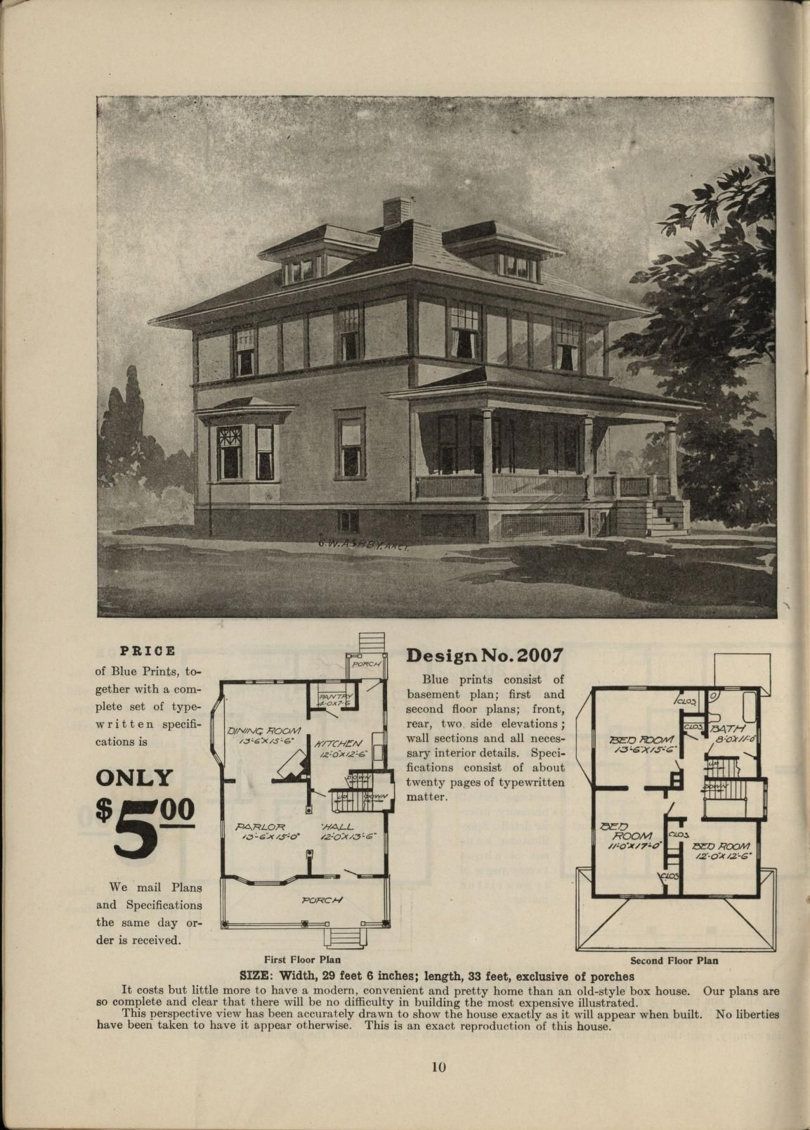 Radford Home Builder, Volume II; Published by Radford Architectural Co.,  Chicago,. Vintage House PlansVintage ...