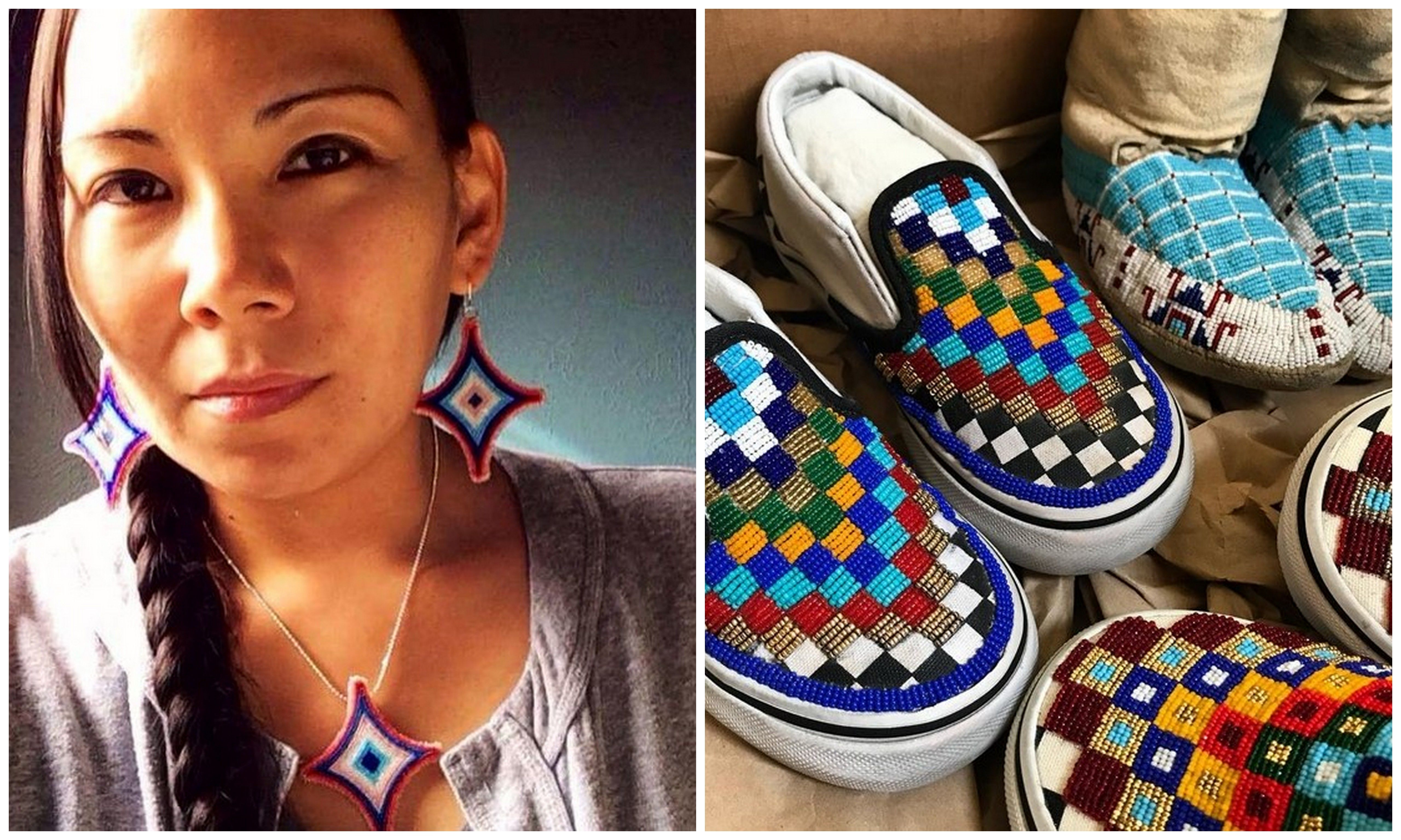 cb4bcf24dd3483 You KNOW you want a pair of these amazing beaded Vans by Sioux artist  Charlene Holy Bear!