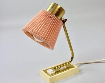 Vintage Tischlampe Hustadt Tisch Leuchte Nachttischlampe Desk Lamp Rosa Pastell Messing Lampe 50er Jahre Germany Artikel Bea In 2020 Vintage Lighting Lamp Etsy