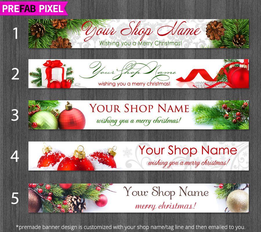 Christmas Etsy Shop Banner, Christmas Cover Photo, Christmas Etsy ...
