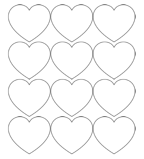 photograph regarding Printable Valentines Hearts named Absolutely free Printable Centre Templates Enormous, Medium Very low