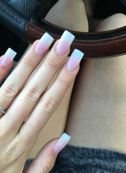 Nails French Ombre Awesome 55 Ideas For 2019 Flare Nails Square Acrylic Nails Flare Acrylic Nails