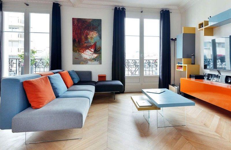 Sofa in Grau \u2013 50 Wohnzimmer mit Designer Couch Dekoration ideeen - Wohnzimmer Einrichten Grau