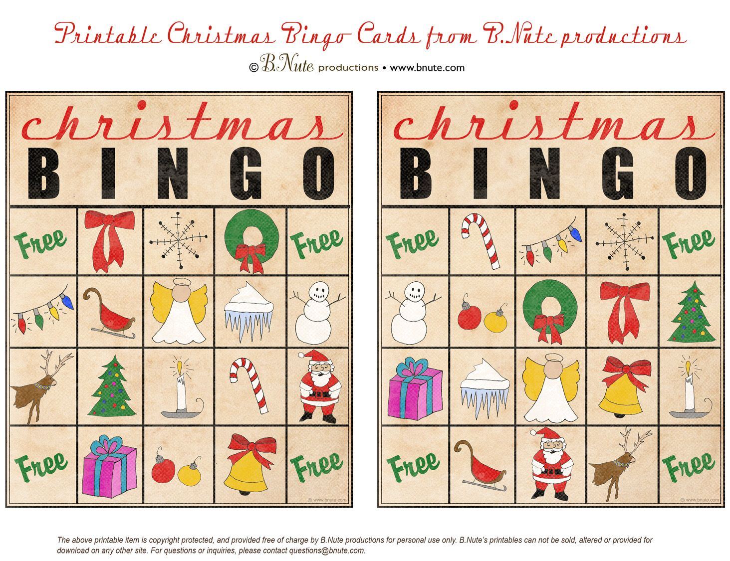 17 Best images about Holiday BINGO Cards on Pinterest | Christmas ...