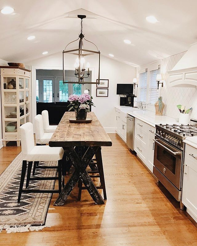 Industrial Galley Kitchen: Rustic Farmhouse Kitchen