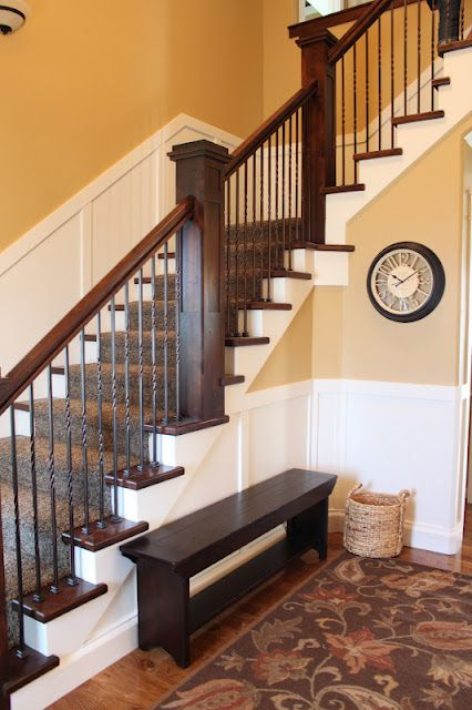I Love The White Molding And The Cherry Wood Stair Case. Exactly What Iu0027