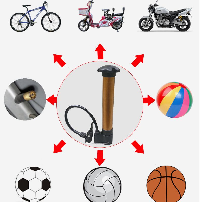 High Pressure Water Air Valve Pump For Bike Training Jogging