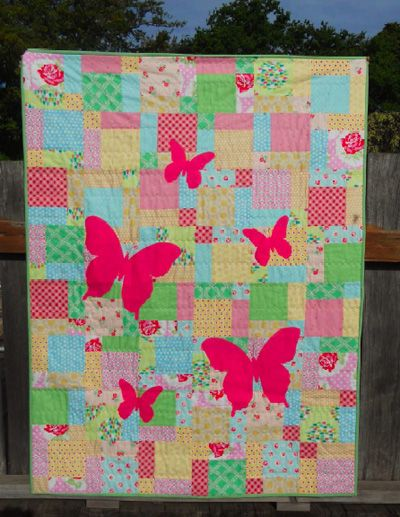 Butterfly Silhouette Quilt Tutorial | Quilt tutorials, Silhouettes ... : butterfly quilt - Adamdwight.com