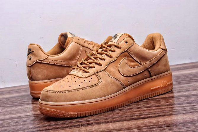 nike air force 1 basso lino pattinare scarpe lino lino gomma marrone chiaro fuori