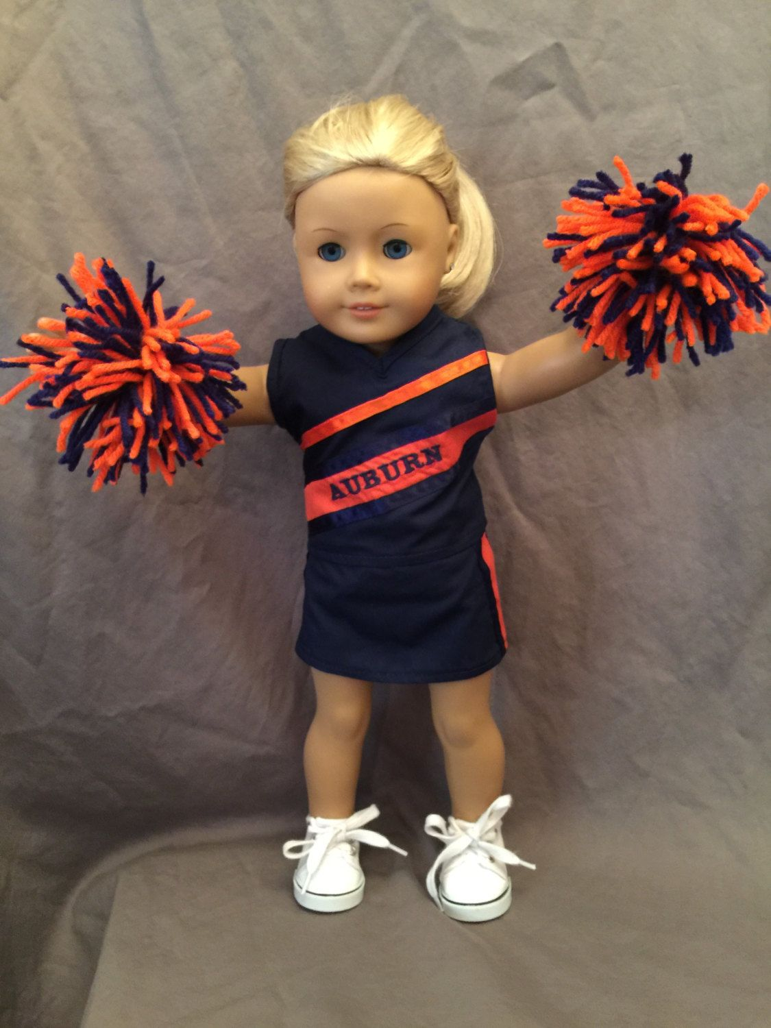 Homemade 18 Inch Doll Clothes Fits Dolls Like American Girl And Similar Dolls: Auburn Cheerleading Outfit Made From Jelly Bean Soup Pattern
