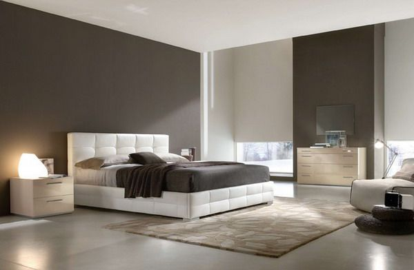 Modern Bedroom Ideas With White Leather Bed Ideeen Slaapkamer