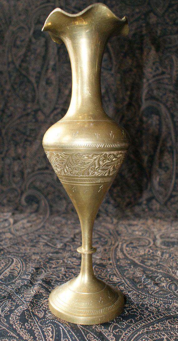 Gorgeous Vintage Gold Vase Contagious Happiness Pinterest Gold