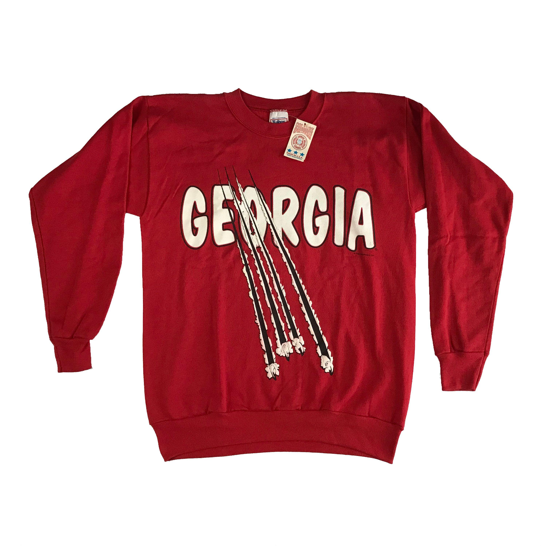 1991 Uga University Of Georgia Bulldogs Claw Puffy Letters Crewneck Sweatshirt L Deadstock Georgia Bulldogs University Of Georgia Crew Neck Sweatshirt [ 3000 x 3000 Pixel ]