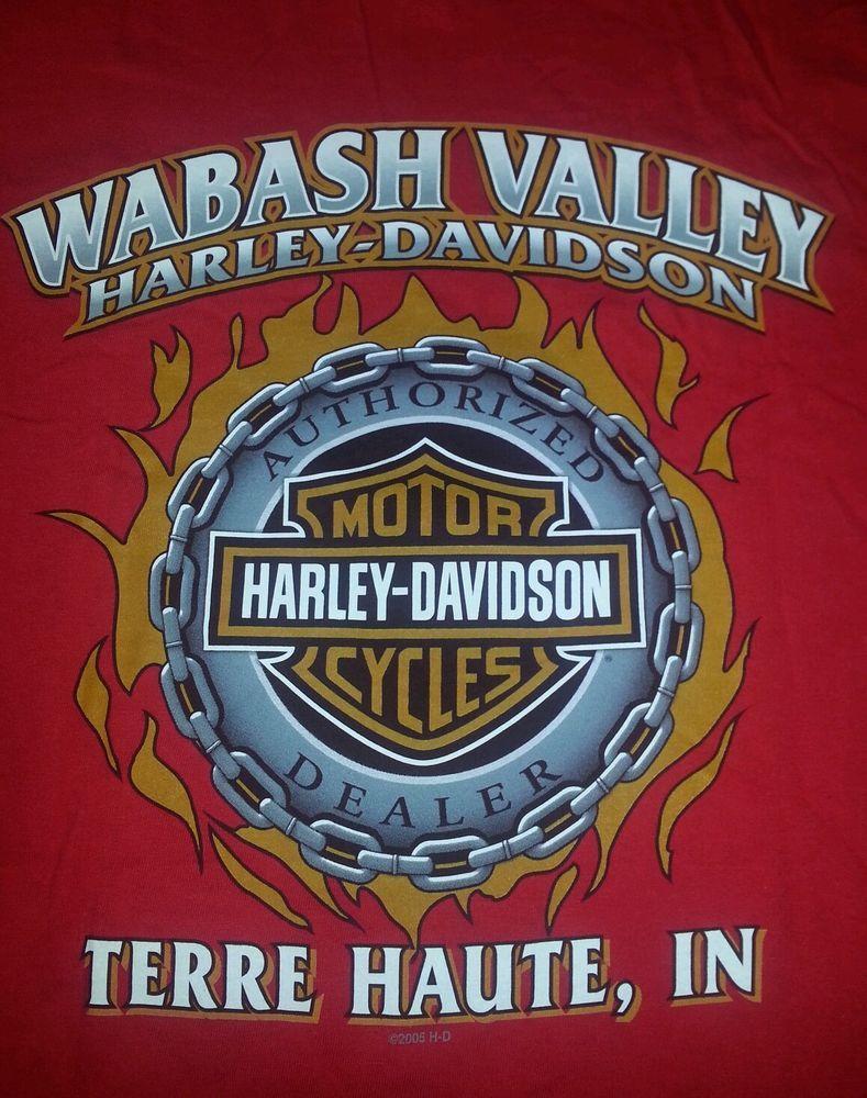 Harley Davidson Motorcycles Men's Tshirt L Red Terre