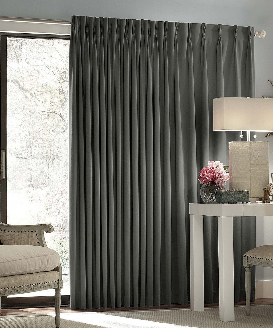 Love This Charcoal Thermal Blackout Patio Door Curtain Panel By