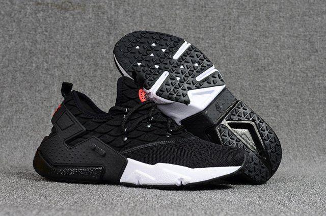 d9909d81ca73 Ventilation Nike Air Huarache Drift Prm Flyknit Black White Red Men s  Running Shoes