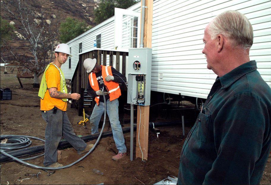 Repairing a bad underground feed at a Las Vegas, NV